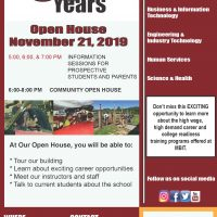 Flyer of MBIT Open House on November 21 st form 6PM to 8PM