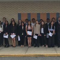 36 high school students dressed for success after presenting their scientific research