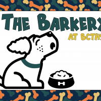 The Barkery at BCTHS with a little dog graphic