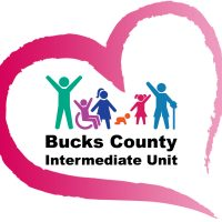 Bucks IU Logo with a heart around it.