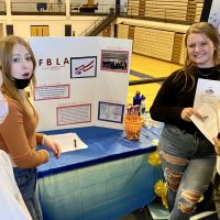 Students at the Future Business Leaders of America table tout their club to prospective members during the school's first Panther Clubs and Sports Fair on Friday, October 1st.
