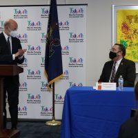 Gov. Tom Wolf thanks Dr. Mark Hoffman, Bucks IU Executive Director