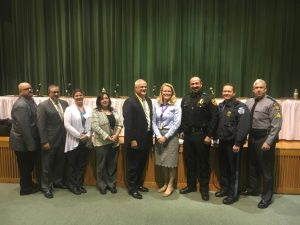 Panelists for PSD Town Hall Safety and Security Meeting