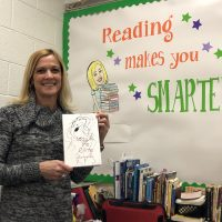 Stacey Flaville-Boop with Hank Curry's book