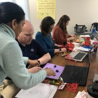 Betty Chandy from Penn EXACT works with BTSD teachers creating Video game controllers with Makey Makey