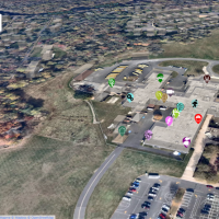 MapMe screenshot of campus