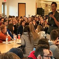 """Dr. Veirdre Jackson gave an """"inspiring"""" and """"enlightening"""" presentation to Quakertown Community School District students on the Dr. Martin Luther King Jr. Day of Service."""