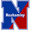 A two colored capital 'N' with the word Neshaminy across it as the for the Neshaminy School District