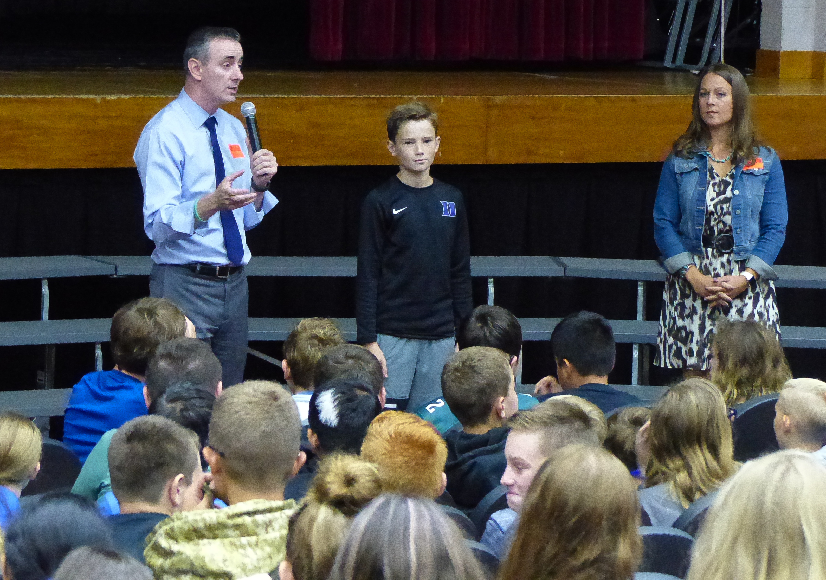 Strouse and Fitzpatrick speak to studens