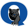 Quakertown school district logo of panther coming out of a Q.