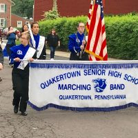 Quakertown's Senior High School Band shown proudly marching in the Memorial Day celebration 2018.