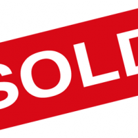 "Red rectangle with the word ""SOLD"" in white"