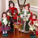 Byers Choice figurines; a set of 4 Christmas Carolers