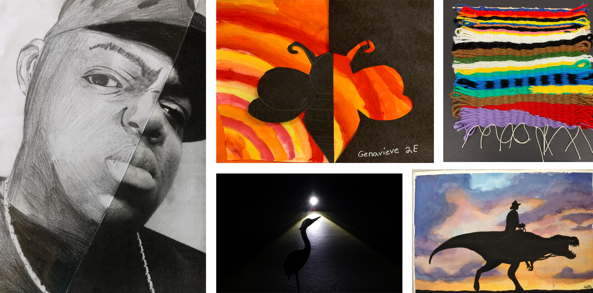 Various artworks from the Neshaminy Art Show
